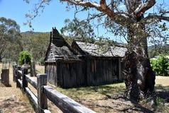 здание школы 1860s деревянное Стоковая Фотография