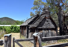 здание школы 1860s деревянное Стоковая Фотография RF