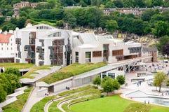 Здание шотландского парламента в Hollyrood, Эдинбурге, Шотландии Стоковые Фото