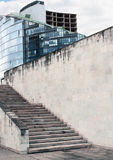 Здание, шлакоблок или кирпичная стена Comercial Стоковое фото RF