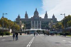 здание barcelona искусства расквартировывает montjuic дворец соотечественника музея Стоковое Изображение