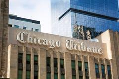 Здание Chicago Tribune Стоковое Фото