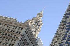 здание chicago wrigley Стоковые Фото