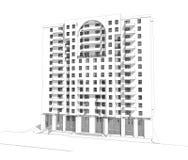 здание 3d Стоковая Фотография RF