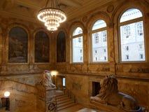 Здание McKim, публичная библиотека Бостона, Бостон, Массачусетс, США Стоковое Изображение