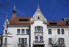 Здание Nouveau Риги, Elizabetes 13, Нео-ренессанса и искусства Стоковые Изображения