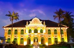 Здание Phraya Abhaibhubate, старое здание стоковое изображение