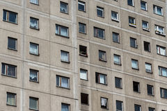Здание Plattenbau - фасад здания ГДР Стоковые Изображения RF