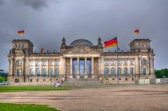 Здание Reichstag, Берлин Германия Стоковые Фото