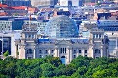 Здание Reichstag, Берлин Германия Стоковое Изображение