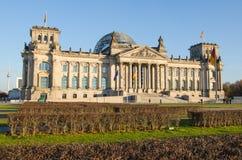 Здание Reichstag (немецкого парламента) в Берлине, Германии Стоковое Изображение RF