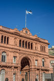 Здание Rosada Касы в Буэносе-Айрес, Аргентине. Стоковое фото RF