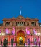 Здание Rosada Касы в Буэносе-Айрес, Аргентине. Стоковая Фотография