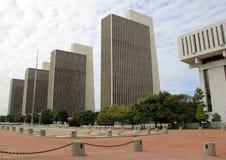 4 здания агенства фланкируя площадь Имперского штата, Albany, NY, 2016 Стоковое Изображение RF