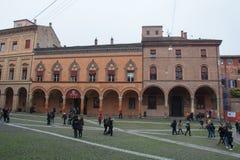 Здания в аркаде Santo Stefano Болонья, эмилия-Романья, Италия стоковая фотография rf