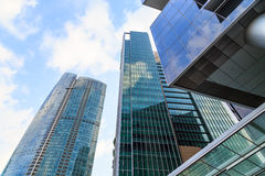 Здания в городе Сингапура, Сингапуре - 13-ое сентября 2014 Стоковые Изображения