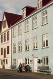 Здания в городке Фарерских островов прописном старом Стоковое Изображение RF