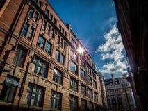 Здания в Манчестере, Англии Стоковые Изображения RF