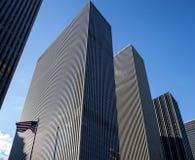 Американский флаг в нью-йорк Стоковая Фотография RF