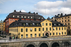 Здания в старом городке Стокгольма Стоковые Изображения RF