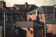 Здания в Levenshulme Манчестере Англии Европе Стоковое фото RF