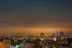 Здания города ночи Стоковое Изображение RF