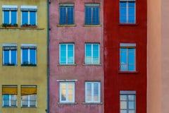 Здания городка стиля француза Стоковая Фотография