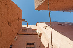 Здания глины в морокканском городке Стоковые Изображения RF