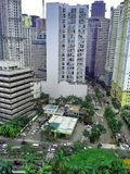 Здания и небоскребы в комплексе Ortigas в городе Pasig, Маниле, Филиппинах Стоковая Фотография