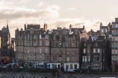 Здания и дома Эдинбурга, Шотландии стоковое изображение