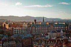 Здания и дома Эдинбурга, Шотландии стоковые изображения rf