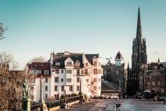 Здания и дома Эдинбурга, Шотландии стоковая фотография