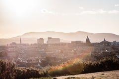 Здания и дома Эдинбурга, Шотландии стоковые фотографии rf