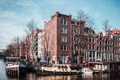 Здания и улицы в Амстердаме, Нидерландах стоковое изображение