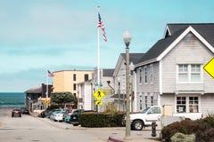 Здания и улицы около шоссе Cabrillo, Калифорнии стоковая фотография rf