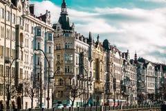 Здания и улицы Праги, чехии стоковые фотографии rf