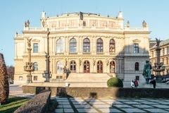Здания и улицы Праги, чехии стоковое изображение rf