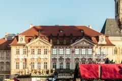 Здания и улицы Праги, чехии стоковая фотография rf
