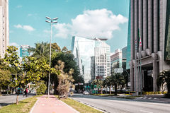 Здания и улицы Сан-Паулу, Бразилии & x28; Brasil& x29; Стоковые Фотографии RF