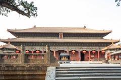 Здания Китая taishan старые, daimiao стоковая фотография rf