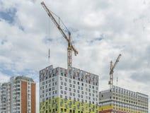 Здания конструкции новые в Москве Стоковые Изображения RF
