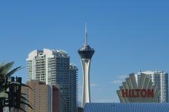 Здания Лас-Вегас в цвете стоковая фотография rf