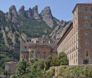 Здания монастыря Монтсеррата стоковые фото