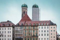 Здания Мюнхена и дома, Германия стоковая фотография rf