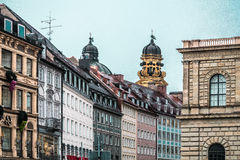 Здания Мюнхена и дома, Германия стоковая фотография