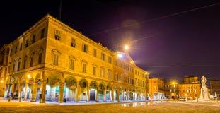 Здания на аркаде Roma в Моденае стоковое фото rf