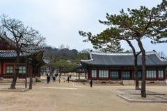 Здания на дворце area1 Changgyeong Стоковые Фотографии RF