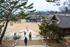 Здания на дворце area6 Changgyeong Стоковое Фото
