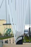 Здания на канале корабля Манчестера и район доков Salford в Великобритании Стоковое Изображение RF