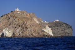 Здания на прибрежных скалах Стоковые Фото